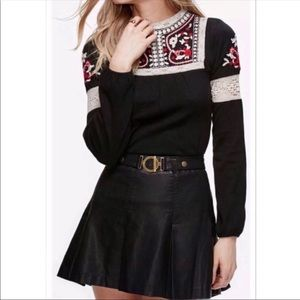 Free People But I Love It Faux leather mini skirt
